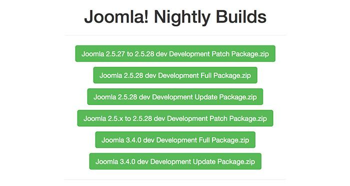 Joomla! Nightly Builds